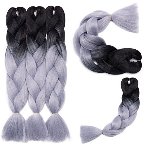 Extension Capelli Braiding Hair Jumbo Braids Ombre