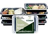 SALE - [7er Pack] FITPREP® 1-Fach Meal Prep Container| Stapelbar, Wiederverwendbar, Spülmaschinenfest, Mikrowellen-, Gefrierschrankgeeignet | neuer, verstärkter Deckel | Bento Box | Lunchbox