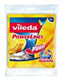 Vileda Carré Vaiselle Power 2 en 1 Pack de 3 Lot de 6