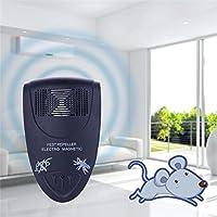 LOERO Repelente de plagas ultrasónico Repelente de plagas 2W Control electrónico de plagas para cucarachas, insectos, hormigas, arañas, pulgas, ratones, mosquitos Seguros, sin radiación , B