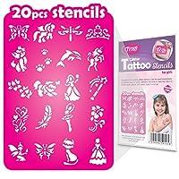 20 Glitter Tattoo Stencils for Girls
