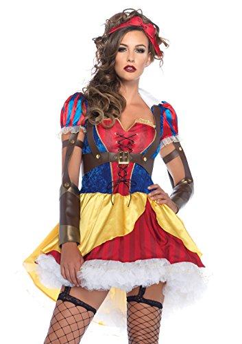Leg Avenue 85430 - Rebel Schneewittchen Damen kostüm, Größe Medium (EUR 38), Karneval Fasching
