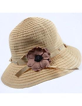 LVLIDAN Sombrero para el sol del verano Dama SolAnti-sol beige plegable