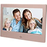 """Epyz HD Ready Digital Photo Frame With Fully Functional Remote (7"""" inch, Gold)"""