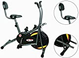 #6: Powermax Fitness BU-205 Exercise Cycle for Weight Loss at Home | Air Bike with back support and moving handles