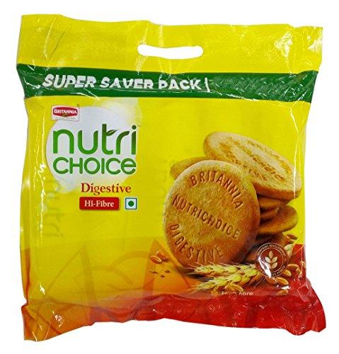 Britannia Nutri Choice Biscuits - Digestive High Fibre, 1kg Pack