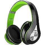 Mpow Over Ear Bluetooth Headset, faltbare Kopfhörer Stereo drahtlose Headsets Ergonomisch mit weichen Ohrenschützer, eingebaute Mic für Handy TV PC Laptop (13 Stunden Batterielebensdauer, Aufbewahrungstasche enthalten Grün)