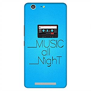 Mobo Monkey Designer Printed Back Case Cover for Gionee Marathon M5 (Music All Night :: Audio Cassette :: Party :: Song :: Play)