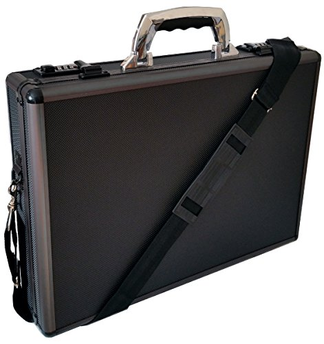 Pro Aluminium Executive Gepolsterter Laptop-Aktentasche attache Case schwarz/gun metal -