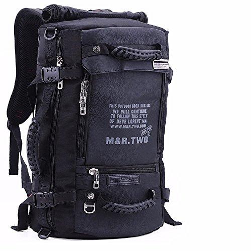 TBB-Zaino borsa a tracolla all'aperto multifunzionale borsa da viaggio di grande capacità per i bagagli di viaggio bag,Blu L13xW7.8xH21.6pollice Black L13xW7.8xH21.6inch