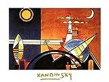 1art1 38751 Wassily Kandinsky - Der Grosse Turm Von Kiew Poster Kunstdruck 70 x 50 cm