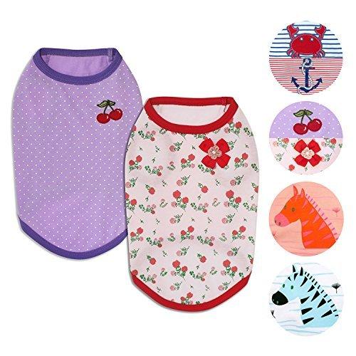 Blueberry Pet Hunde-Shirt, Verschiedene Designs, weiche und Bequeme Baumwollmischung, Verschiedene ()