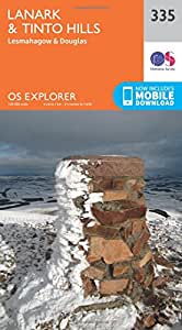 OS Explorer Map (335) Lanark and Tinto Hills (OS Explorer Paper Map) (OS Explorer Active Map)