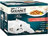 Purina Gourmet Perle Wet Cat Food Country Medley Mini Fillets in Jelly, 12 x 85g (Pack of 4)
