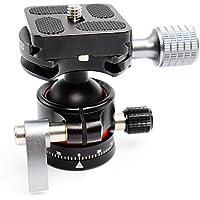 Koolehaoda Mini cabeza de trípode E1 Cabeza de bola Con placa de liberación rápida. Peso neto solamente 170G, carga máxima: 8KG (E1-ballhaed)