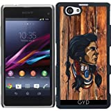 DesignedByIndependentArtists Hülle für Sony Xperia Z1 Compact - Native American Kopf by hera56
