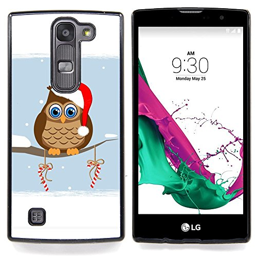 SKCASE Center / Protettiva Custodia - Gufo Inverno Elf Cappello Rosso Bianco Drawing Art Candy - LG G4c Curve H522Y ( G4 MINI , NOT FOR LG G4 ) - Inverno Elf
