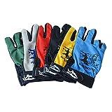 AOLVO Outdoor-Sport-Handschuhe, Salzwasser-Angeln/Jagd/Kälte/Sonnenschutz/Touchscreen-kompatible Handschuhe, Rutschfeste Reibung, atmungsaktiv, leichte Handschuhe, 3 niedrige Finger-Handschuhe