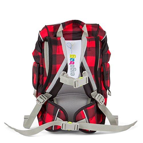 ERGOBAG ergobag Mini (Plus) Backpack for Kindergarten Sac à Dos Enfants, 26 cm, 10 liters, Multicolore (Check Red Black)