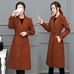 MO Woolen Coat in the Long Section of Autumn and Winter Clothing Coat Casual Wear Waist Coat Female Wave by MO