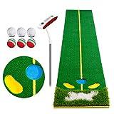 Golf Golf Putting Mat Golf-Putting-Mattenset, Golf-Putting-Übungsmatte, Putting-Aid-Matte, Putt-Trainer, Golf-Putting-Green, Verbessern Sie Ihren Putting-Schlag in Ihrem eigenen Zuhause (Putt +6 Golfb