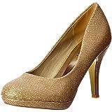 Malla Onlineshoe Femenina Brillo Chispeante Brillo - Zapato De Tacón Bajo Plataforma Corte - Malla De Oro, Plata