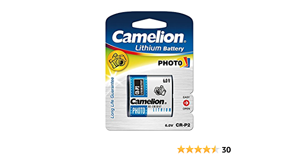 Camelion 19001152 Lithium Foto Batterie Cr P2 6 Volt Elektronik