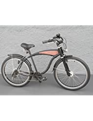 '26Beach Cruiser bicicleta 7velocidades Shimano dinamo de buje Schwalbe Negro Madera