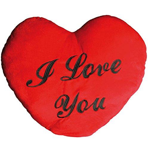 Out of the blue i cuore rosso di peluche xxl, modello i love you, 60 cm, multicolore, 7x62x49 cm
