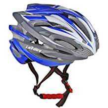 Toptotn HM-1 Bicycle Helmet Ultralight Integrally Molded EPS Bike Helmet Safety Helmet Specialized for Road/ Mountain Terrain Bicycle with Comfortable Removable Washable Antibacterial Pads Blue by LEADTRY