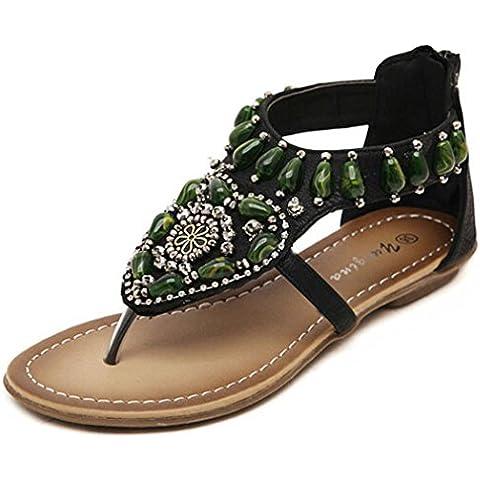 Transer® Sandali da Spiaggia Boemia Signore Sandali Estivi Donna Tacco