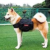 OneTigris Hundetasche für mittelgroße und große Hunde, Dog Saddle Bag, Black - 500D Nylon