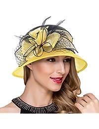 Mujer fascinador derby Cloche Hats Vestido de la iglesia británica Sombrero  de copa S051 4697c2ffbae