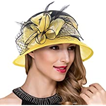 Mujer fascinador derby Cloche Hats Vestido de la iglesia británica Sombrero  de copa S051 8092ac449e4