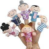 TRIXES 6 Marionetas Familiares para Bebés Entretenimiento Educativo Perfecto Para Bebés y Niños Pequeños