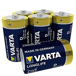 VARTA Longlife Batterie D Mono Alkaline Batterien LR20, 6er Pack