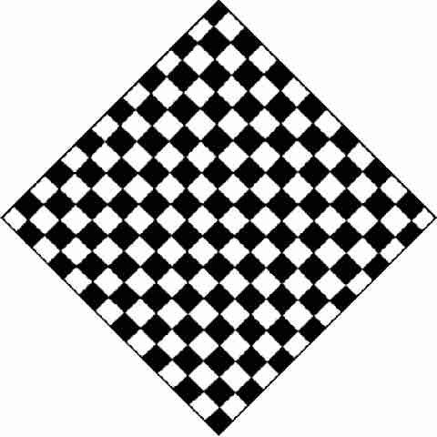BLANC & NOIR carreaux échiquier DAMIER bandana