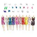 #9: TOYMYTOY Barbie Doll Clothes and Shoes Set | Doll House Accessories - 31 PCS