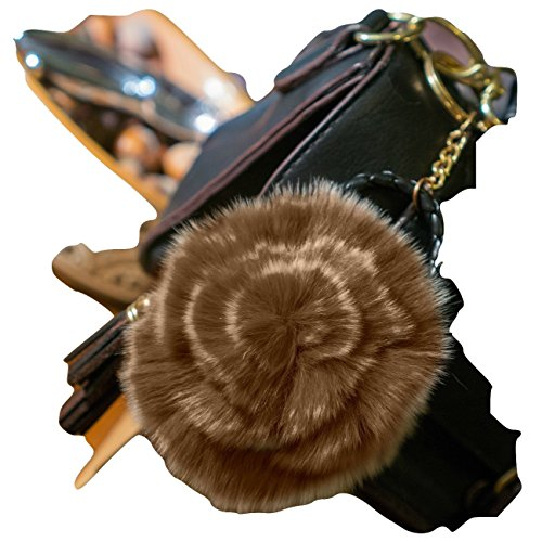 3-for-2-sale-brown-white-tints-fur-rose-keyring-hand-bag-charm-fashion-accessory-animal-fur-unique-g