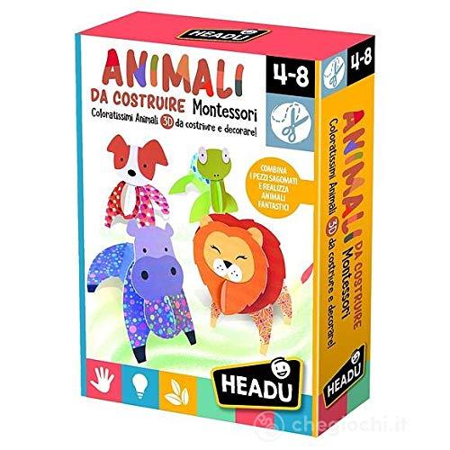 HEADU Animali da costruire Montessori 4-8 Años Juego