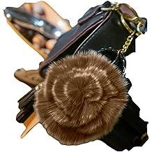 3per 2vendita. Pelliccia Rosa Portachiavi, Charm per Borsa a mano, Accessori moda, animali, regalo unico, con