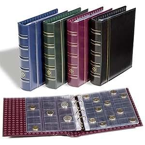 Leuchtturm Album Numismatique OPTIMA, Classique avec 10 Pochettes transparentes différentes, bleu