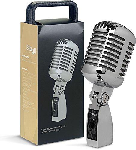 Stagg SDM100 CR diseño Vintage micrófono dinámico profesional