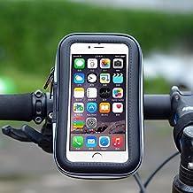 basstop supporto per bici moto manubrio Borsa Porta Cellulare Custodia Impermeabile con Cerniera per iPhone 6, 6S, 5S, Samsung Galaxy S4S3e cellulare fino a 5