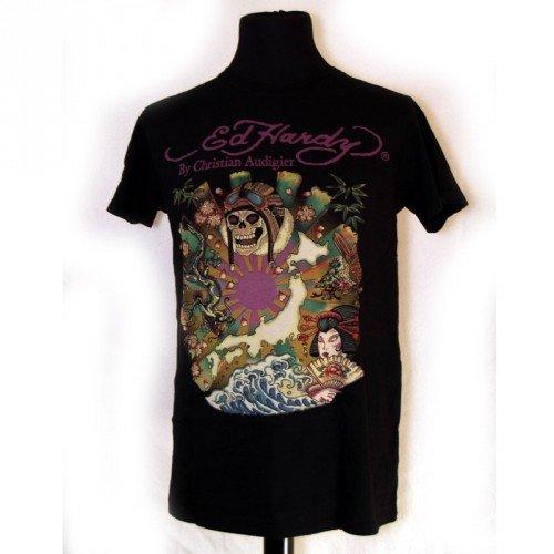 Ed Hardy T-Shirt 'kamikaze' (A9CBAACS) nero Small