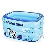 Yugang Tragbare Badewanne der Blauen PVC-Erwachsenen Kinder Verdickte aufblasbare unabhängige Tragbare mit Bequemer Qualität Weiche Sicherheitsbadewanne 130 * 100 * 80cm, 140 * 105 * 80cm