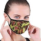 Fleischfressende Pflanze waschbar Wiederverwendbare Unisex Mund Maske, Mode Anti Staub halbes Gesicht Mund Maske für männer Frauen staubdicht