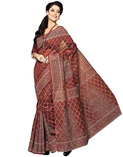 Roopkala Silks & Sarees Cotton Saree (Bp-103 _Brown)