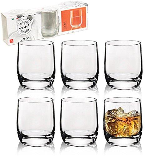 6 x Short Tumblers 200ml Bormioli Rocco Loto Tumbler Glasses