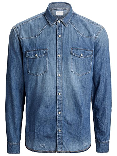 Selected - Chemise en jeans Selected One Woody Bleu